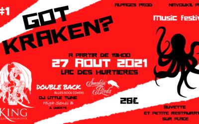 Got Kraken ? Music Festival – Lac des Hurtières – 27 Août 2021